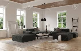 contemporary living rooms low angle view on empty contemporary living room with large square
