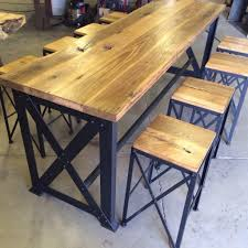Reclaimed Wood Bar Table Reclaimed Oakash Outdoor Bar Table Porter Barn Wood Reclaimed