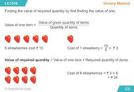 learnhive cbse grade 4 mathematics unitary method lessons