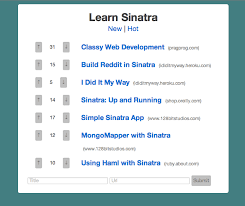 tutorial build reddit in sinatra i create things