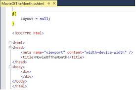 layout page null layout in asp net mvc dot net odyssey
