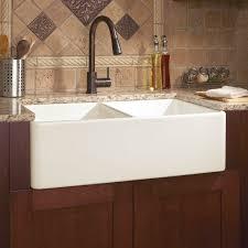 Reinhard DoubleBowl Fireclay Farmhouse Sink Biscuit Kitchen - Kitchens with farm sinks