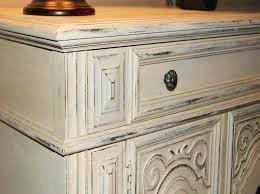 Cream Distressed Kitchen Cabinets How To Distress White Cabinets Memsaheb Net