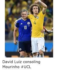 David Luiz Meme - 10 david luiz consoling mourinho ucl soccer meme on me me