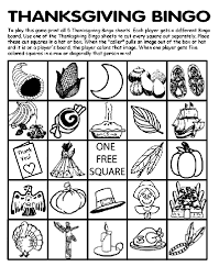 thanksgiving bingo board no 3 coloring page crayola
