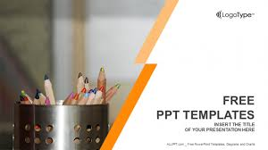 coloured templates coloured pencils education ppt templates