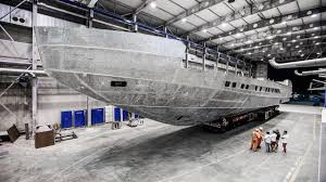pershing 140 flagship yacht under construction boat international