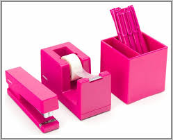 Office Desk Accessories Set Beautiful Pink Office Desk With Additional Home Decor Interior