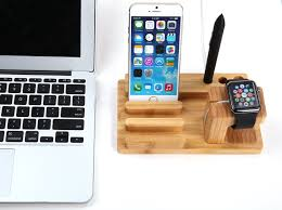 free your hands bamboo wood charging station promotion u6q9s8i2