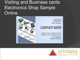electronic shop visiting cards visiting cards online design for ele u2026