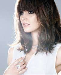 lob hairstyles with bangs gallery long bob hair with bangs black hairstle picture