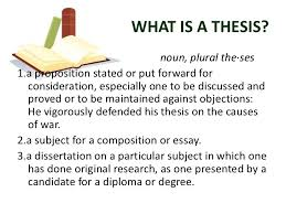 what is the thesis statement the thesis and its parts