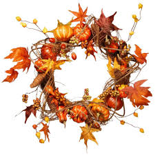 Orange Accessories National Tree Company Harvest Accessories 21 In Artificial Wreath