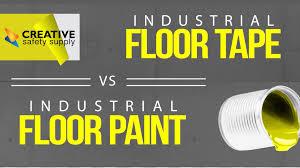 floor paint lines vs floor tape lines infographic video