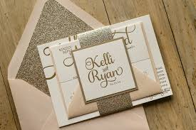 fancy wedding invitations blush and gold glitter wedding invitations wedding