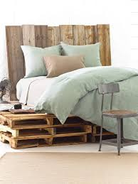 pine cone hill chambray linen ocean duvet cover pine cone hill