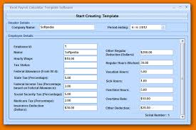Excel Payroll Calculator Template 4 Excel Payroll Template Timeline Template