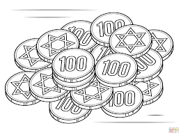 hanukkah gelt coloring page free printable coloring pages