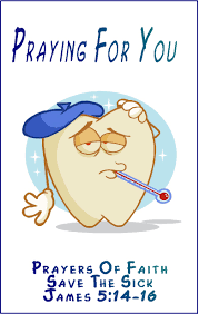 simple and get well greeting card exle with sick tooth