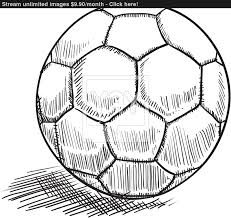 soccer or futbol sketch vector yayimages com