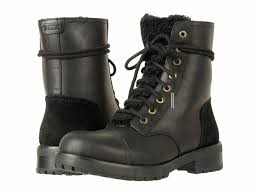 s ugg australia black boots ugg australia black s kilmer exposed leather 1019072 boots