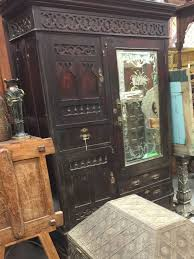 wood 161a jpg antique rustic armoires vintage teak mirror cabinet