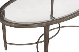 Glass Oval Coffee Table by Amazon Com Magnussen Home Furnishings T2114 Copia Brushed Metal