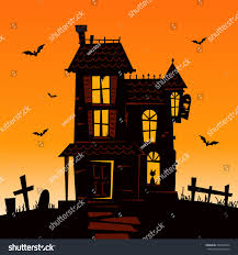 haunted mansion spooky haunted house vector stock vector 225695224