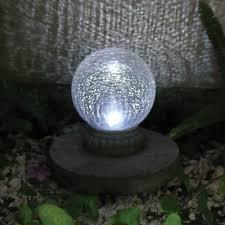 Garden Gazing Globe Smart Solar Crackled Glass Solar Powered Chameleon Gazing Ball