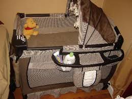 playpen with bassinet and changing table organizer u2014 ultrabide