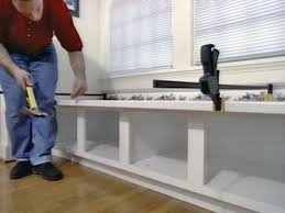 How To Make A Toy Storage Bench by How To Build Window Seat From Wall Cabinets How Tos Diy