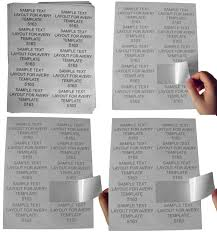 Avery 60 Labels Per Sheet Template Self Adhesive Labels For All Printers Houselabels Com Print