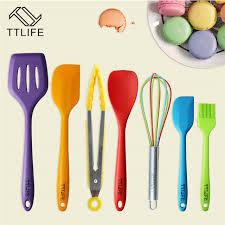 ustensile de cuisine silicone ttlife 7 pièce coloré premium silicone cuisine ustensiles de cuisine