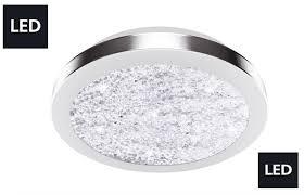 Wohnzimmer Lampe Led Led Wohnzimmer Decken Lampe Glas Kristalle Flur Bad 12 Watt