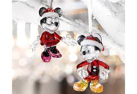 make merry with mickey and minnie swarovski ornaments this