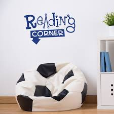 kids room wall decal reading corner decal kids reading