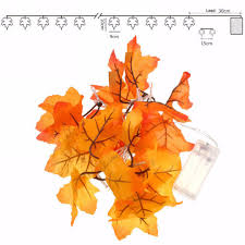maple leaf garland with lights 10 led lighted leaf harvest fall leaves garland lights string