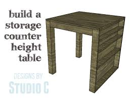 Diy Counter Height Table A Nifty Counter Height Table With Storage U2013 Designs By Studio C