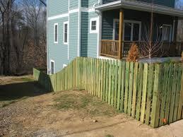 wood fences fence designs atlanta company custom cedar top cap