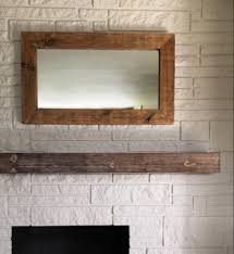 Rugged Home Decor Rugged Special Walnut Wooden Mantel Hollow Fireplace Mantel