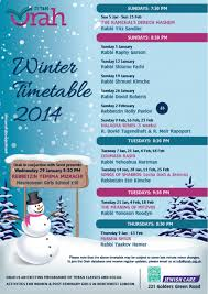 winter timetable 2014