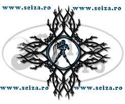 tribal tattoo aquarius zodiac tattoos