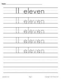 free number 11 tracing worksheet number eleven handwriting worksheet