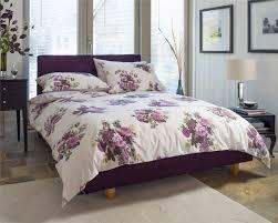 bedroom barton pink purple cream vintage floral roses duvet cover
