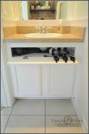 Undersink Cabinet Remodelaholic Easy Slide Out Under Cabinet Storage Drawers