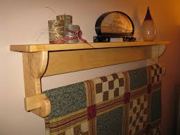Hanging Wall Shelves Woodworking Plan by Wall Hanging Quilt Rack And Shelf 2 By Paul Pomerleau