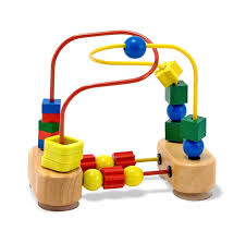 wooden bead toy table melissa doug first bead maze wooden educational toy amazon co