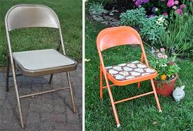 Best Way To Paint Metal Patio Furniture Fabulous Metal Folding Chair Makeover Jacquelynne Steves