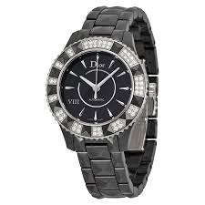 dior viii automatic diamond black ceramic ladies watch 1235e0c001