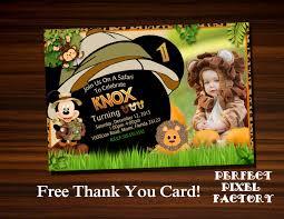 Card Factory Party Invitations Mickey Safari Invitationmickey Invitationsafari Invitation